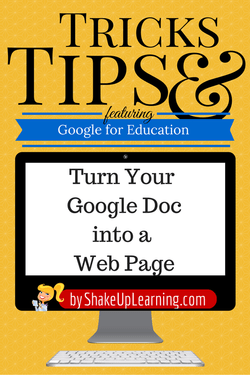 Turn Your Google Doc into a Webpage