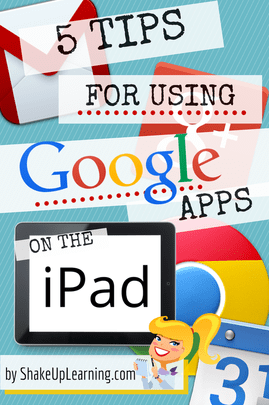 5 Tips for Using Google Apps on the iPad | Shake Up Learning | www.shakeuplearning.com | #gafe #google #edtech