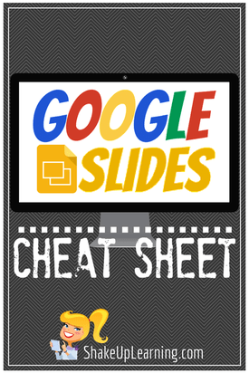 Google Slides Cheat Sheet