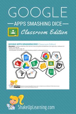 Google Apps Smashing Dice: Classroom Edition   Shake Up Learning   www.shakeuplearning.com  #GAFE #GoogleEdu #appdice #edtech