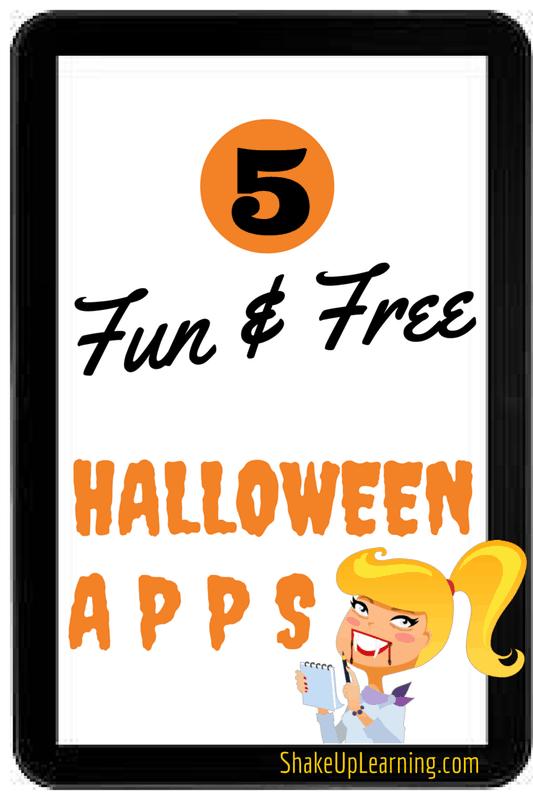5 Fun and Free Halloween Apps | Shake Up Learning | www.shakeuplearning.com | #edtech #ipaded #iosdedapp #halloween