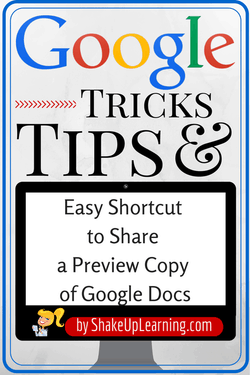 Easy Shortcut to Share Preview Copy of Google Docs