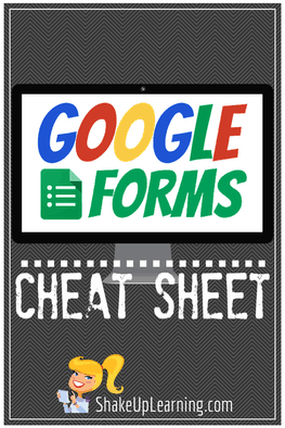 Google FORMS Cheat Sheet for Teachers!