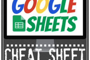 Google Sheets CHEAT SHEET for Teachers and Students!