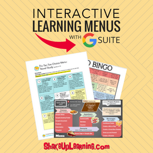 Interactive Learning Menus (Choice Boards) with G Suite