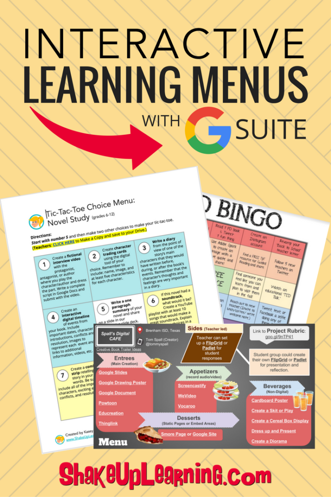 Interactive Learning Menus with G Suite