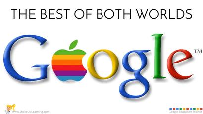 Best of Both Worlds! Google Apps for the iPad online #GoogleEduOnAir Presentation by Kasey Bell| www.ShakeUpLearning.com | #gafe #edtech #googleedu #ipad #ipaded