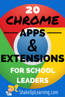 Chrome Apps and Extensions for School Leaders | www.ShakeUpLearning.com | #gafe #googleedu