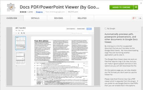 A Must Have Google Chrome Extension: PDF/PPT Viewer