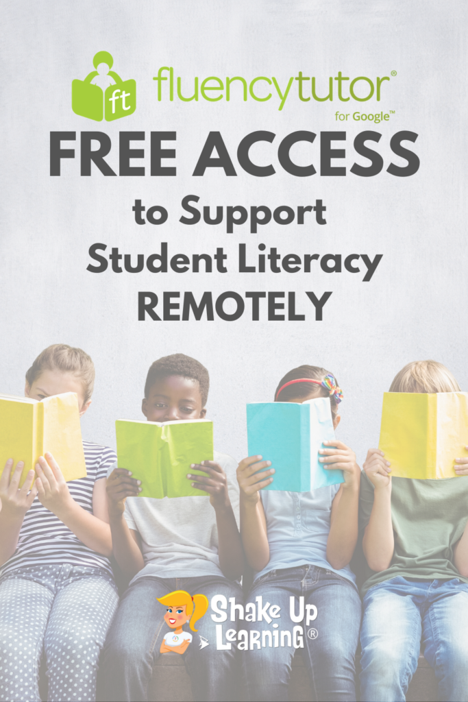 FREE Access to Fluency Tutor to Support Student Literacy