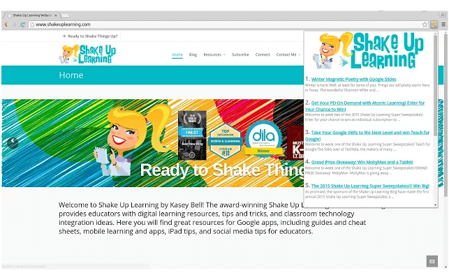 The Shake Up Learning Chrome Extension!