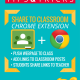The Share to Google Classroom Chrome Extension!