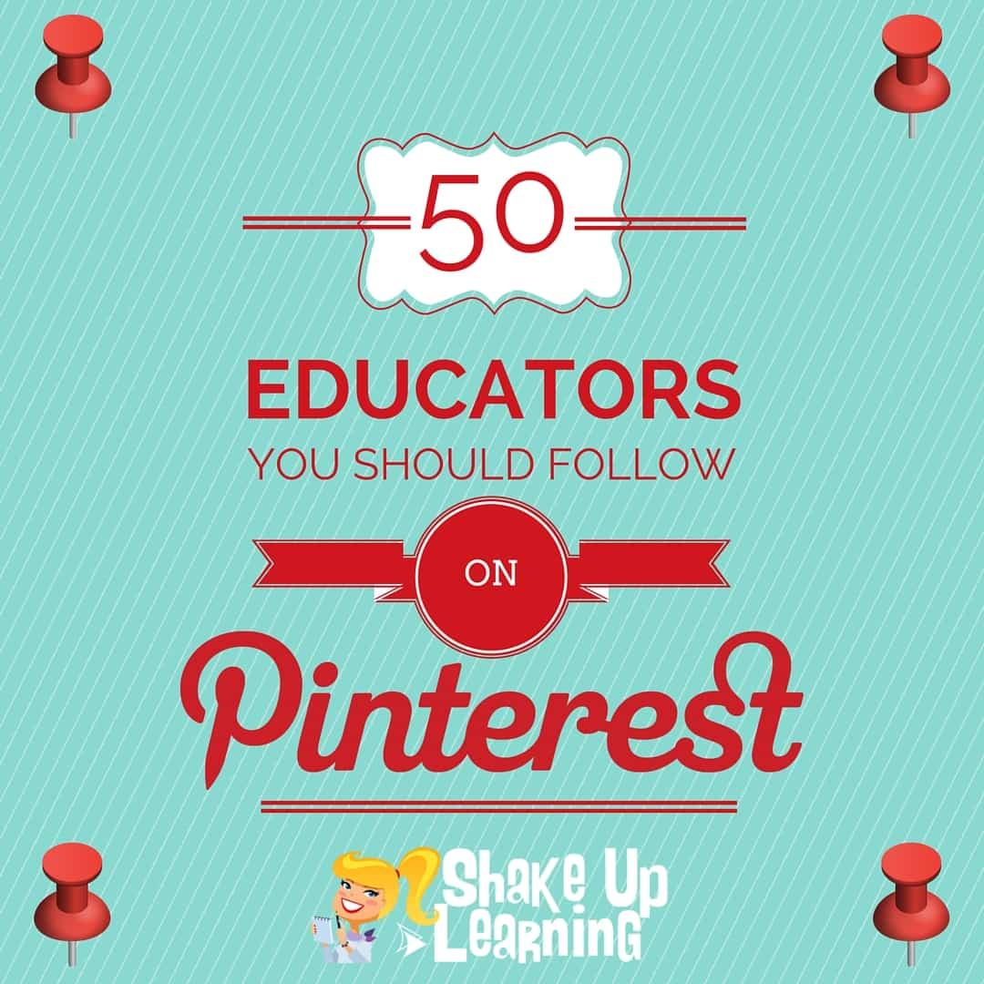 50 Educators You Should Follow on Pinterest! (Teacher's Guide to Pinterest - Part 3)