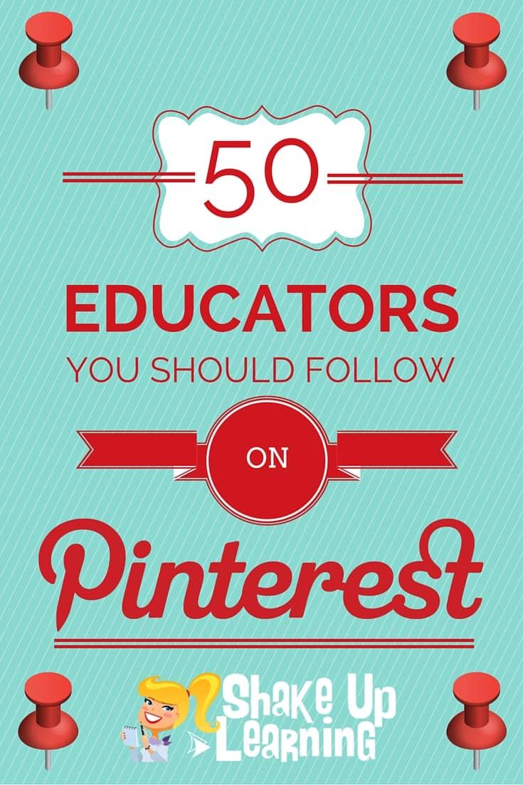 50 Educators You Should Follow on Pinterest