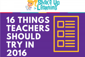 16 Things Teachers Should Try in 2016 [infographic]