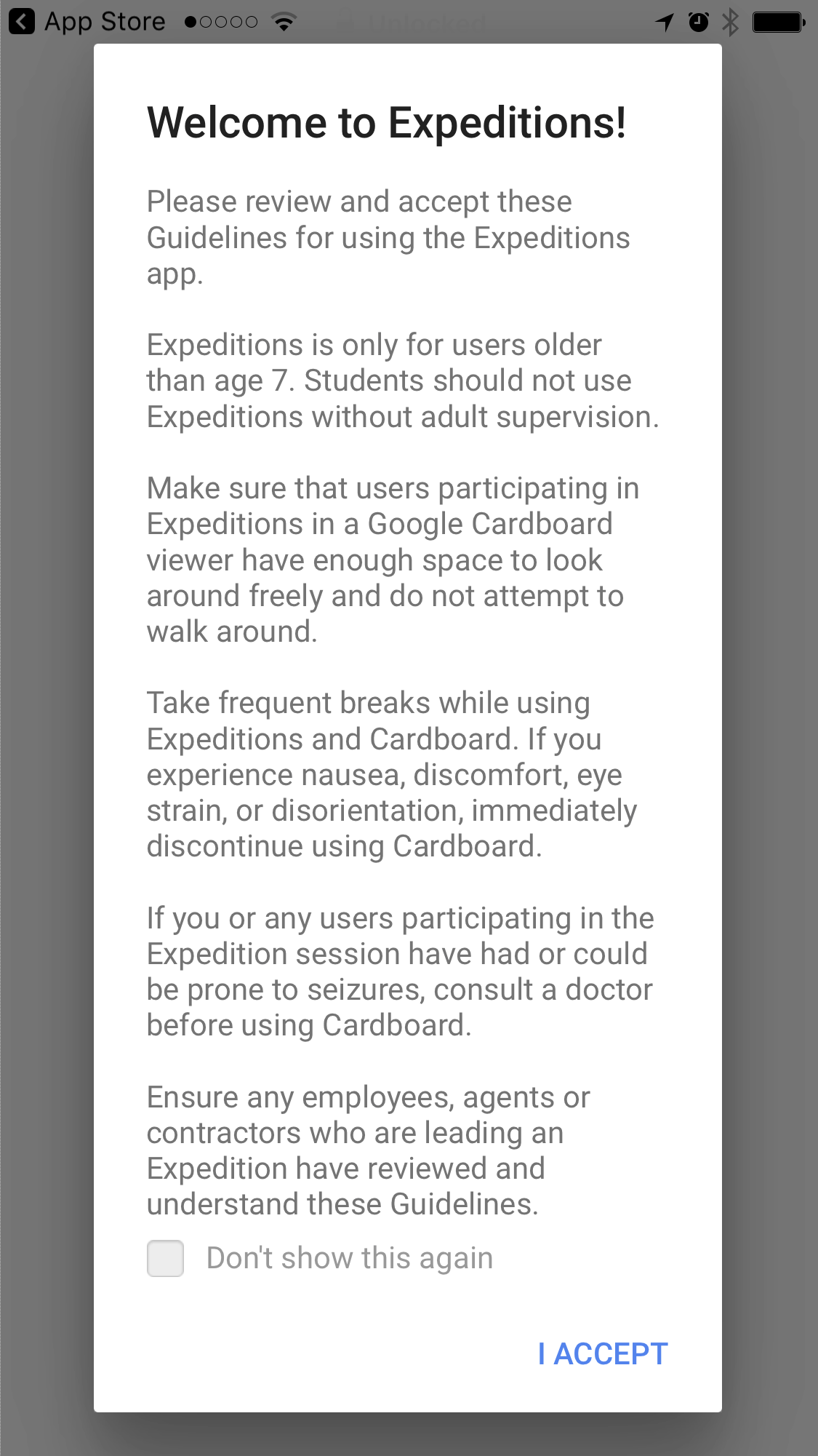 Google Expeditions Guidelines
