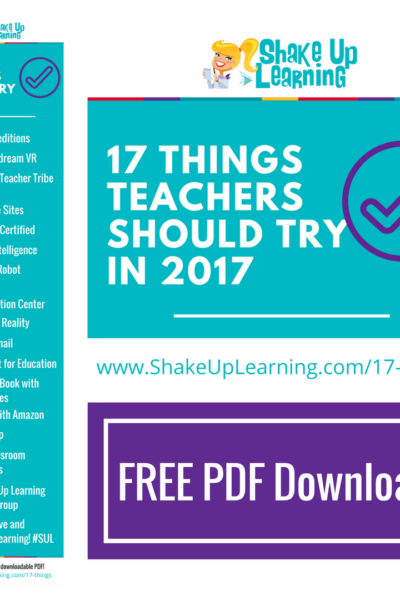 17 Things for Teachers to Try in 2017