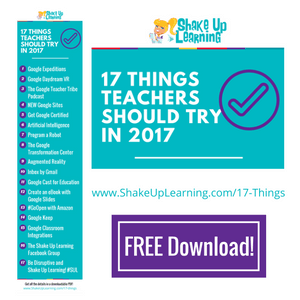 17 Things for Teachers to Try in 2017 (infographic and download)