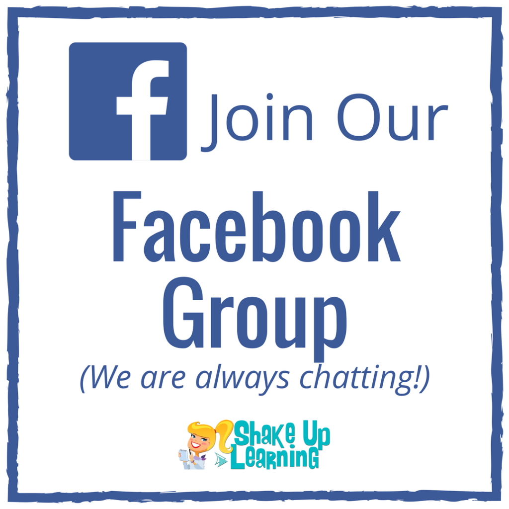 Join the Shake Up Learning Facebook Group
