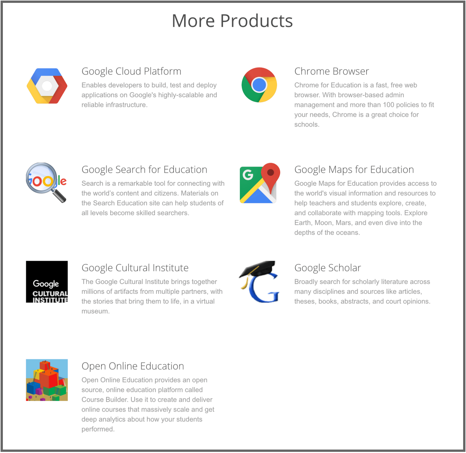 Other G Suite Products