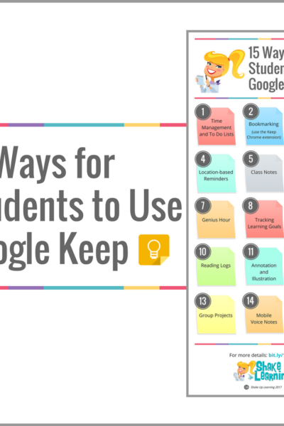 15 Ways for Students to Use Google Keep