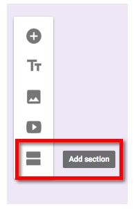 Add Section to Google Form