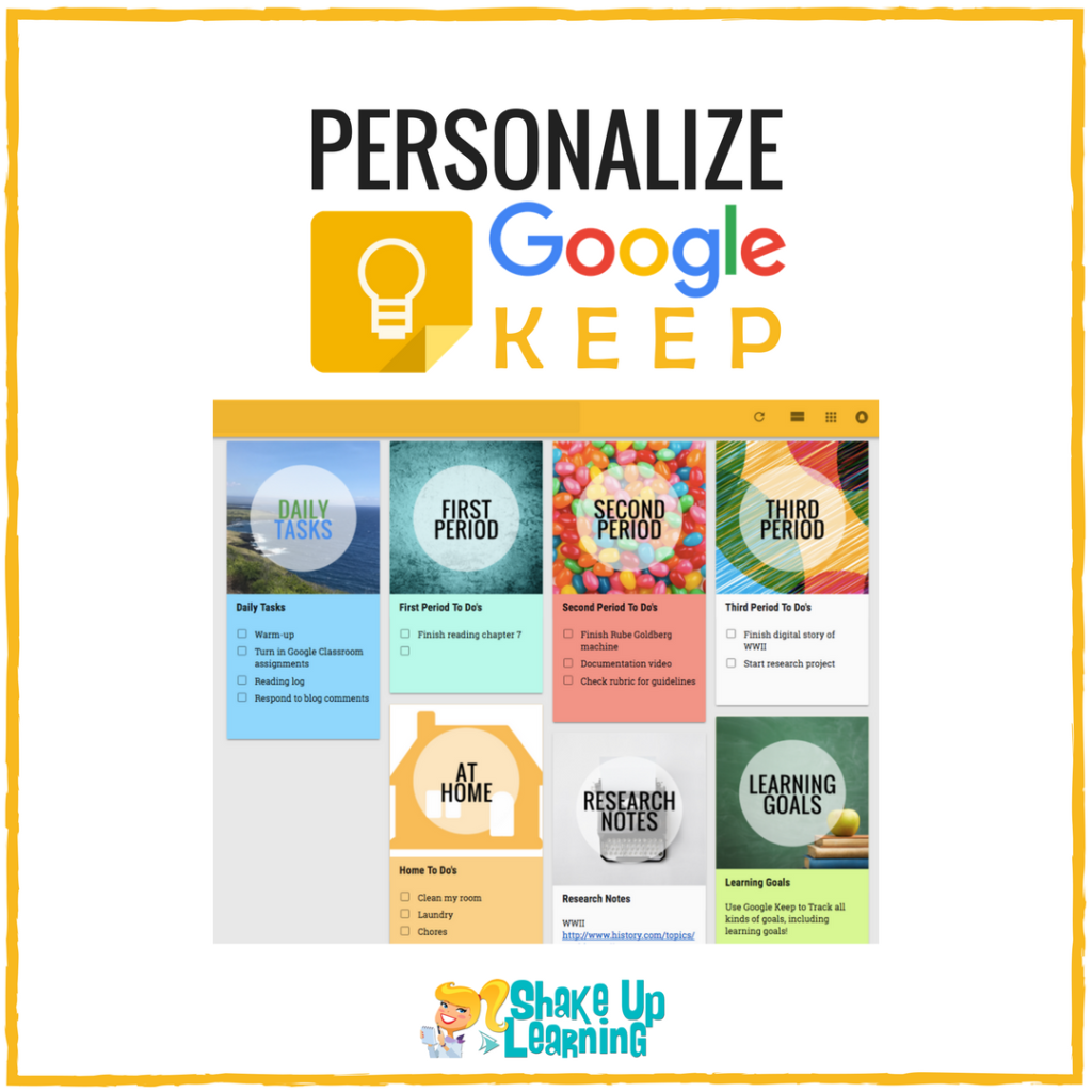 Personalize Google Keep for You and Your Students