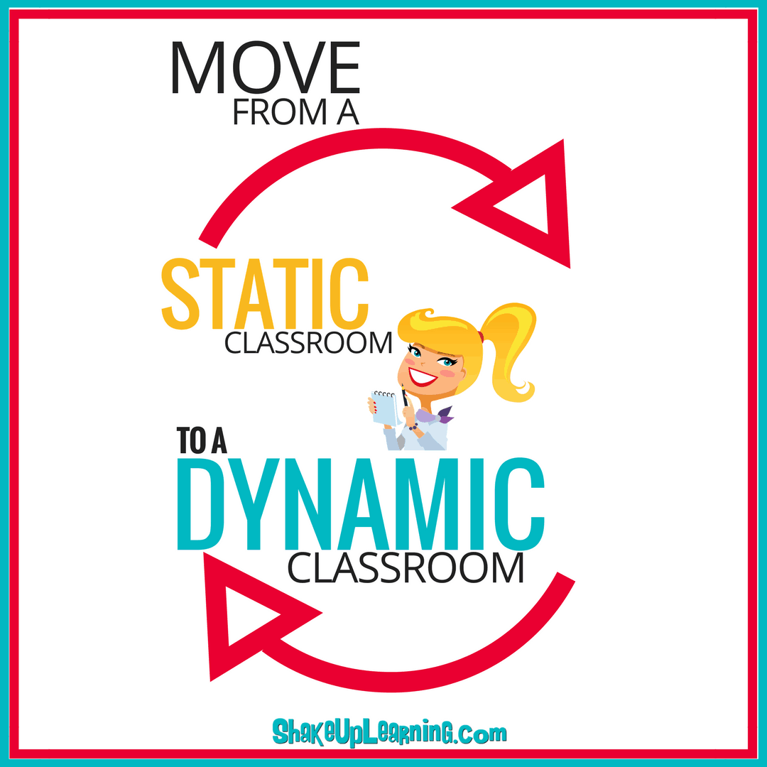 Move from a Static Classroom to a Dynamic Classroom (Shake Up Challenge!)