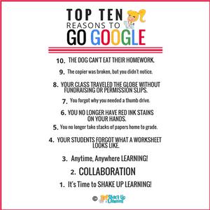 Top 10 Reasons Every School Should Go Google