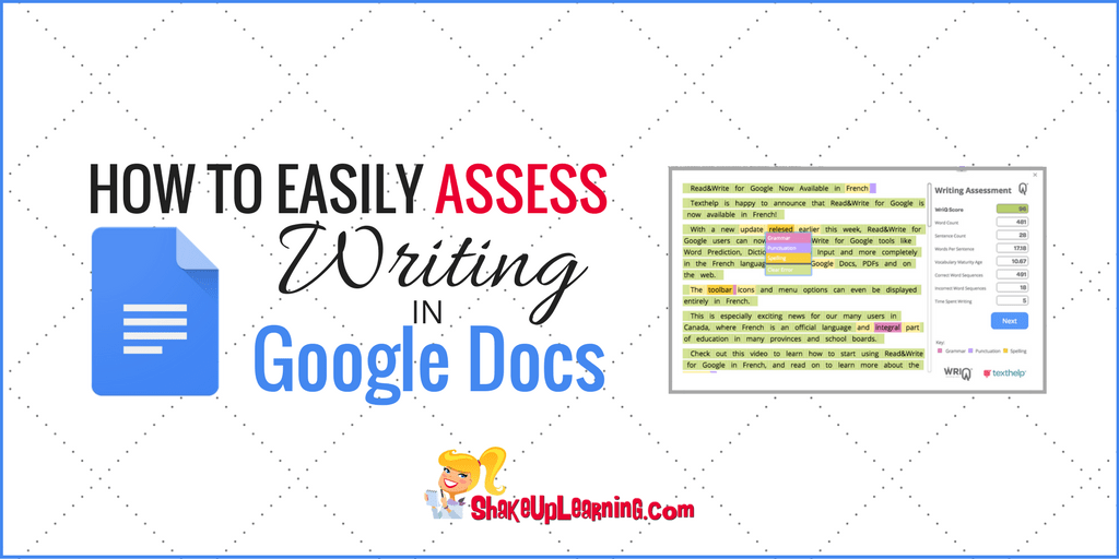 How to Easily Assess Student Writing in Google Docs | Shake Up Learning