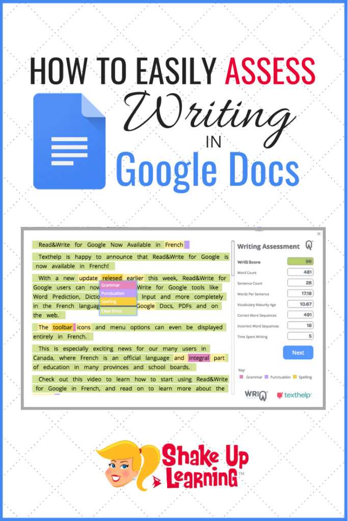 How to Easily Assess Student Writing in Google Docs