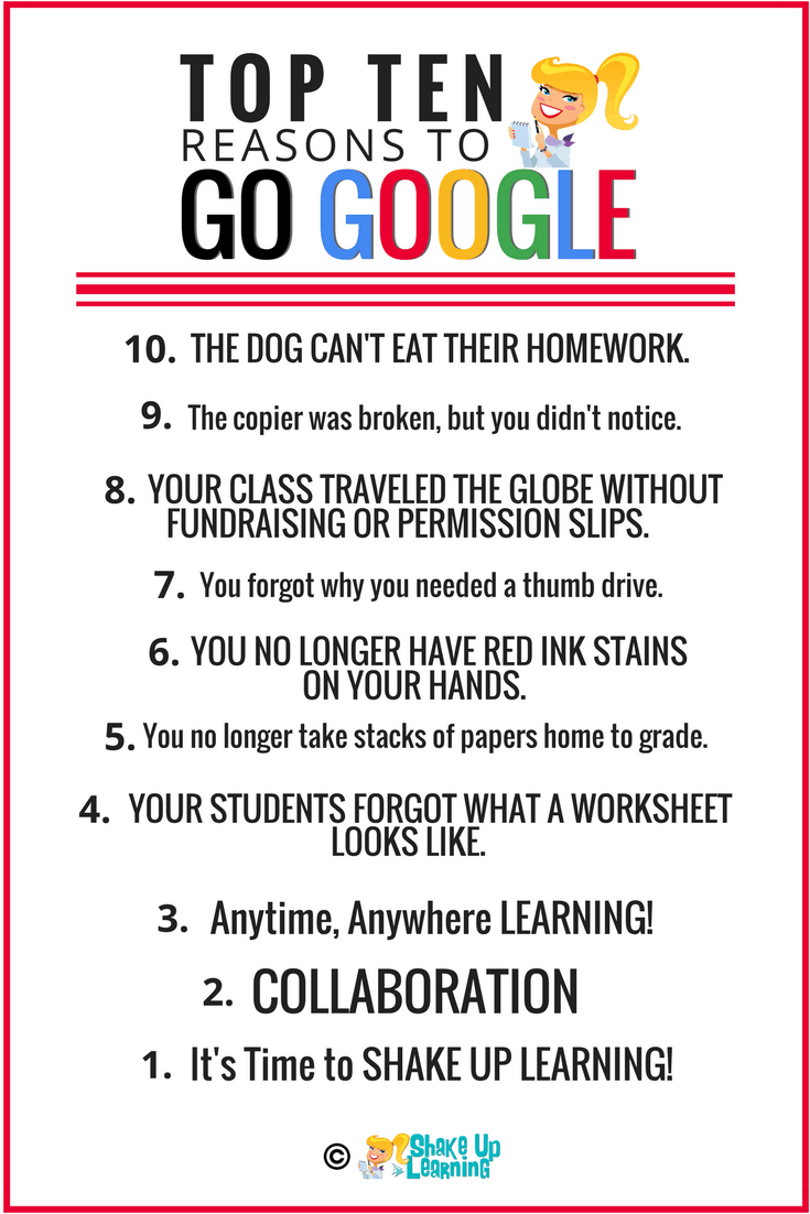Top 10 Reasons to Go Google