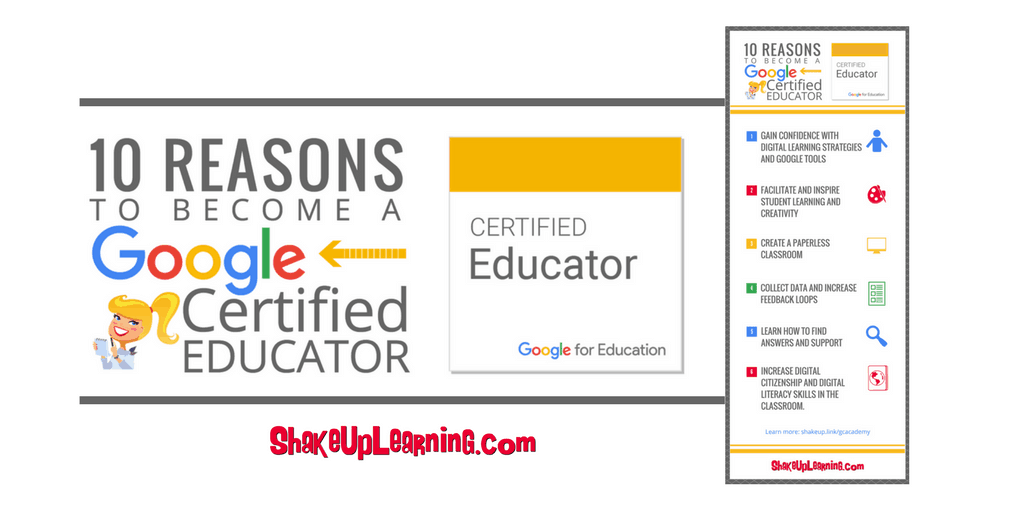 10 Reasons to Become a Google Certified Educator (infographic and video) | Shake Up Learning