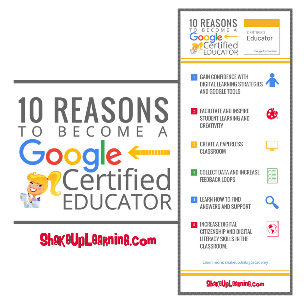 Shake up learning website and blog 10 reasons to become a google certified educator fandeluxe Choice Image