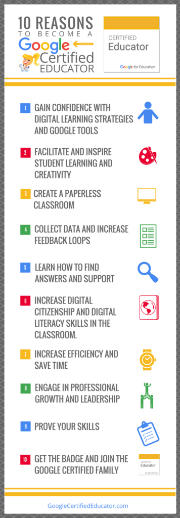 10 Reasons to Become a Google Certified Educator