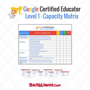 Google Certified Educator Capacity Matrix (Level 1)