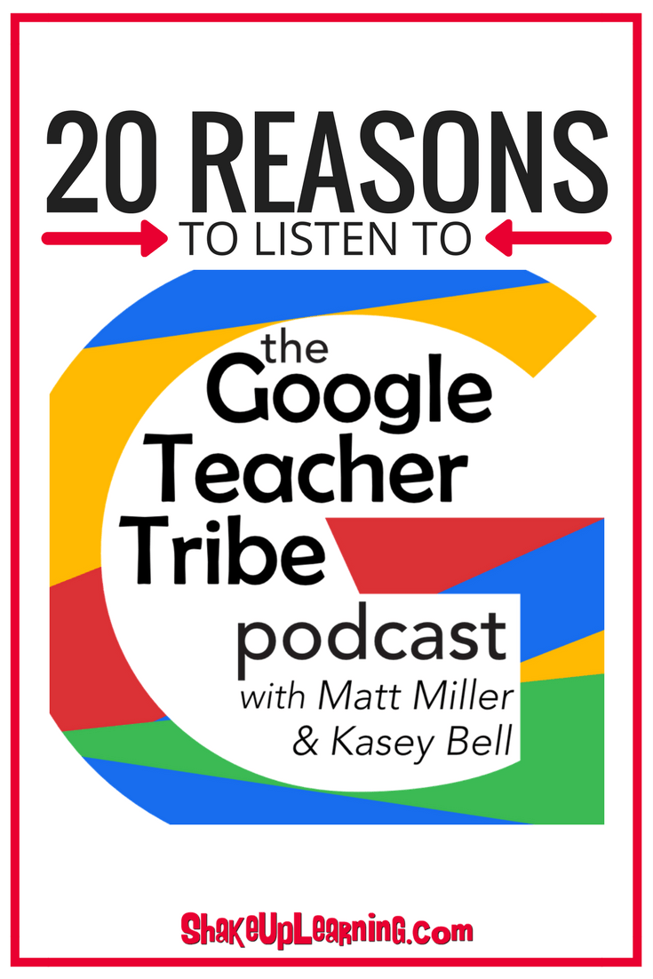 20 Reasons to Listen to The Google Teacher Tribe Podcast