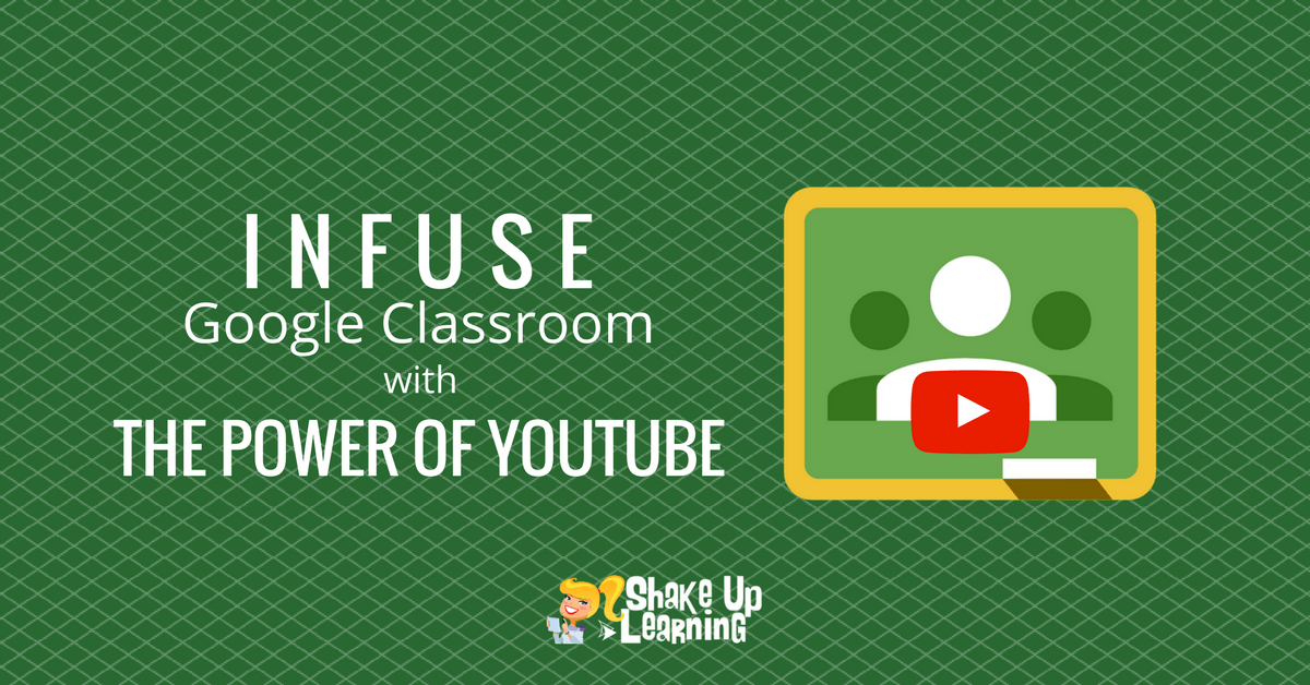 shakeuplearning.com - Kasey Bell - How to Infuse Google Classroom with the Power of YouTube