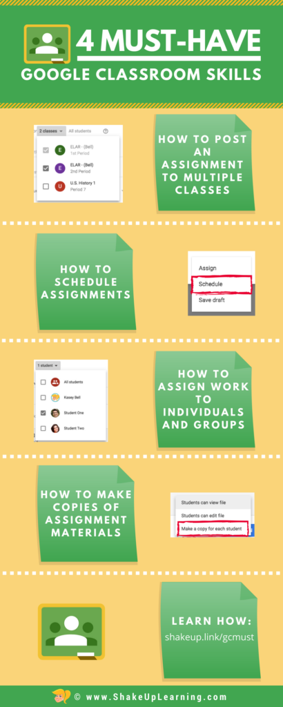 4 Must-Have Google Classroom Skills