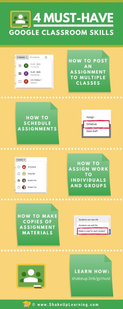 4 Must-Have Google Classroom Skills