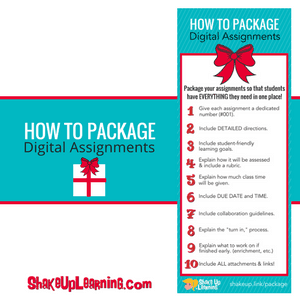 How to Package Digital Assignments