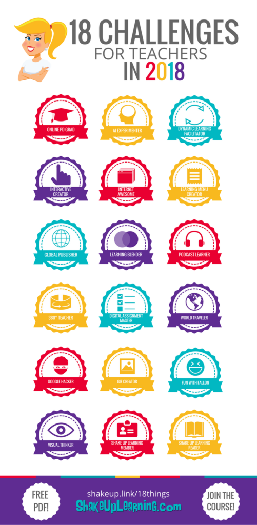 18 Challenges for Teachers Online Course - FREE for Subscribers!