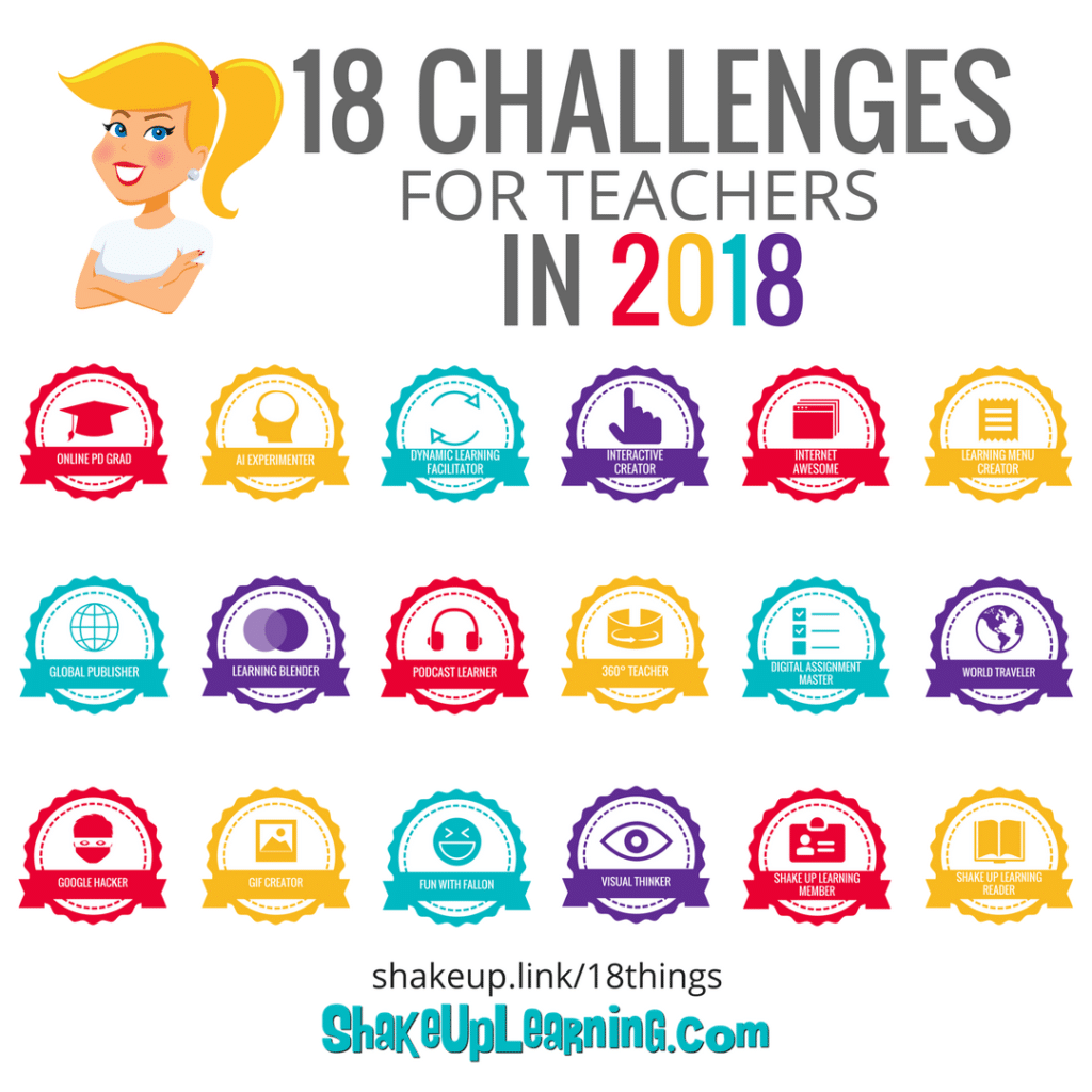 18 Challenges for Teachers in 2018 Course - (ONLY $45)