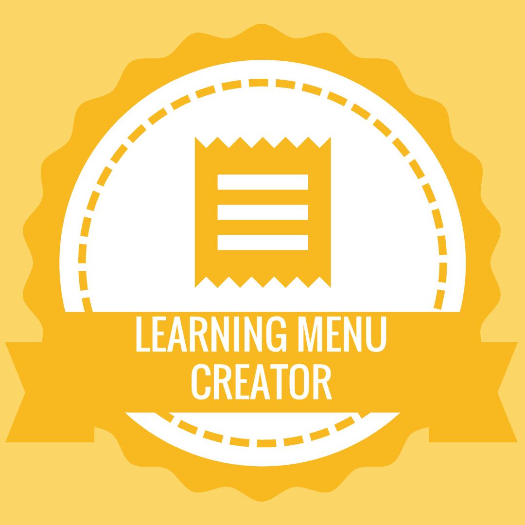 Learning Menu Creator