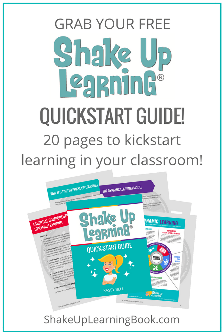 Shake Up Learning with the FREE QUICKSTART GUIDE!
