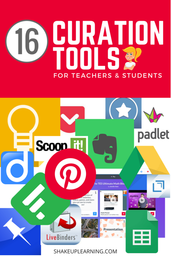 16 Curation Tools for Teachers and Students