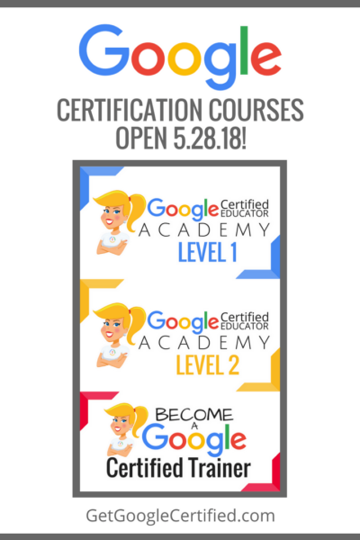 All Google Certification Course Open on May 28th!