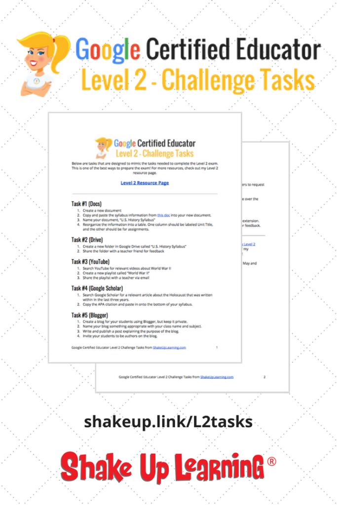 Google Certified Educator Level 2 Challenge Tasks