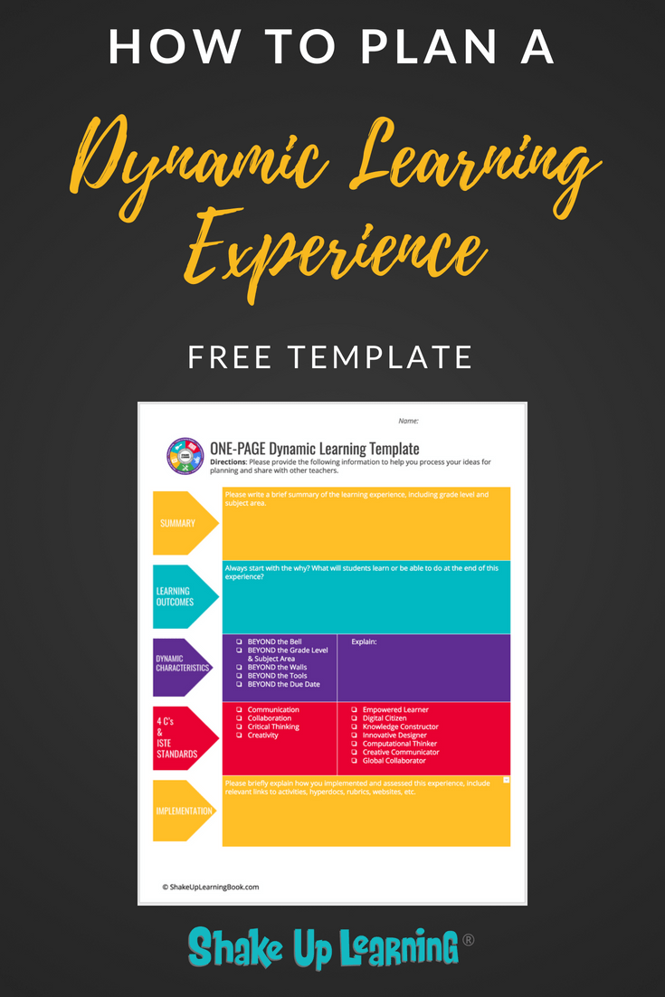 How to Plan a Dynamic Learning Experience (FREE TEMPLATE)