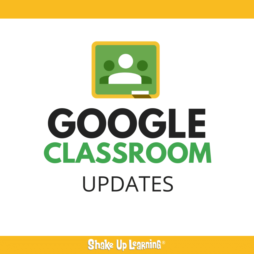 Shake up learning website and blog 5 things to know about the new google classroom fandeluxe Choice Image